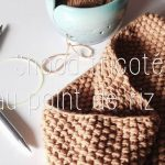 Tour de cou tricot point de riz