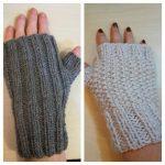 Tricoter mitaines avec pouce 4 aiguilles
