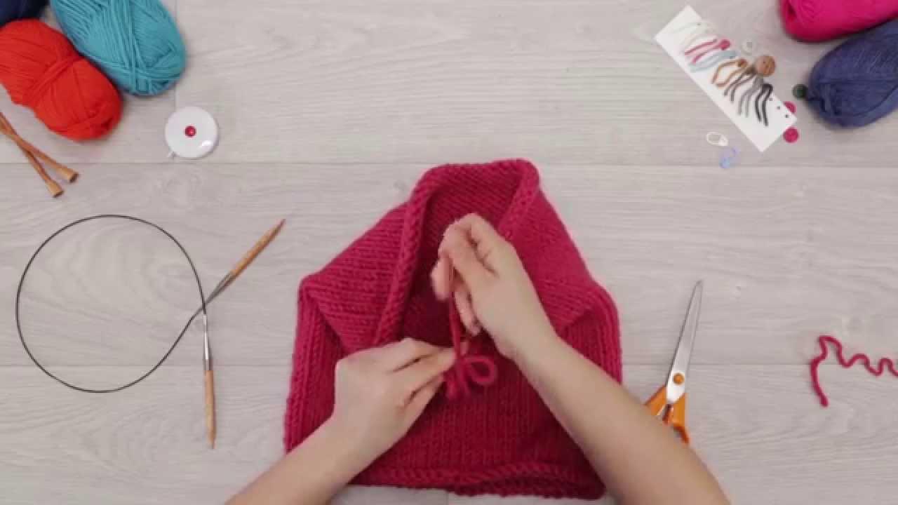 Tricoter en rond avec des aiguilles normales