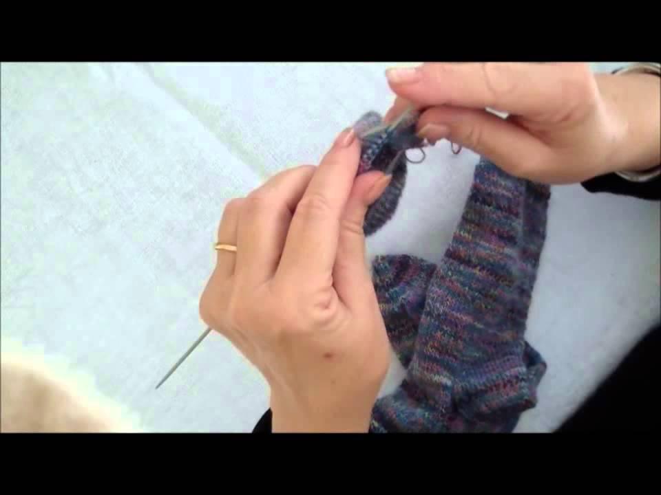 Youtube tricoter en rond avec 4 aiguilles