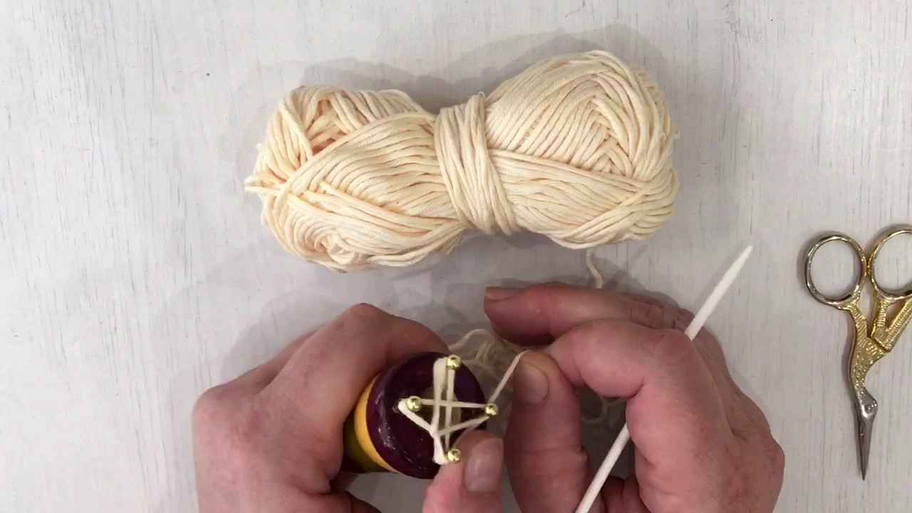 Manuel pour tricotin