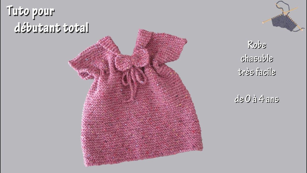 Tricoter robe fille en laine