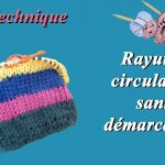 Tricot rayures sans demarcation