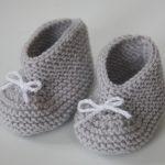 Tricot chausson bébé facile gratuit