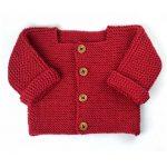 Tricot bebe veste