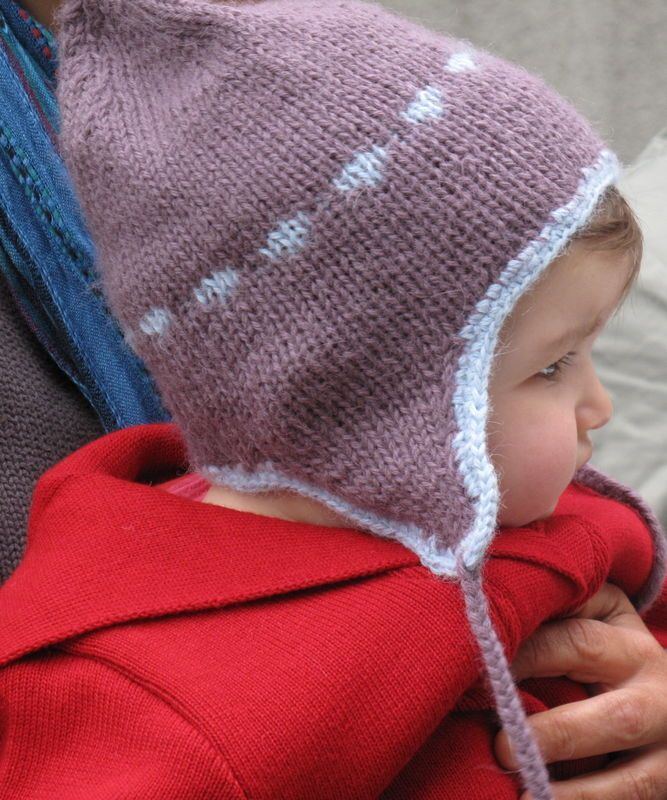 Tricoter un bonnet peruvien fille