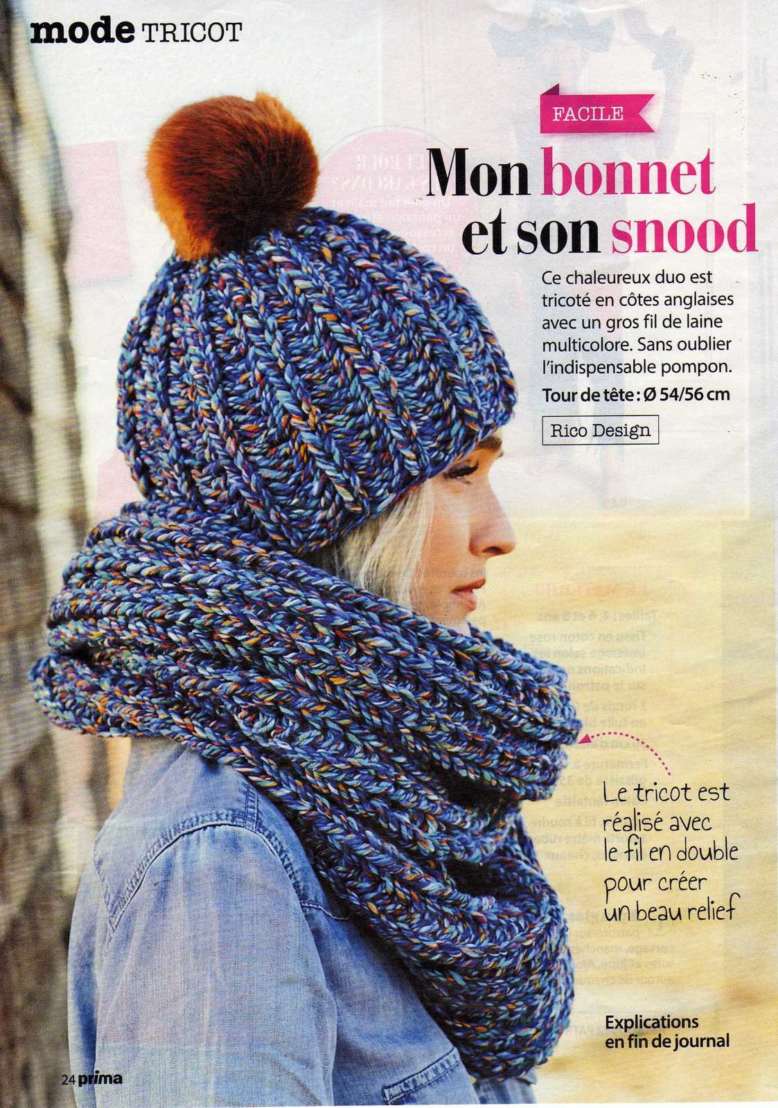 Tricoter un bonnet snood