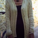 Tricot facile cardigan femme