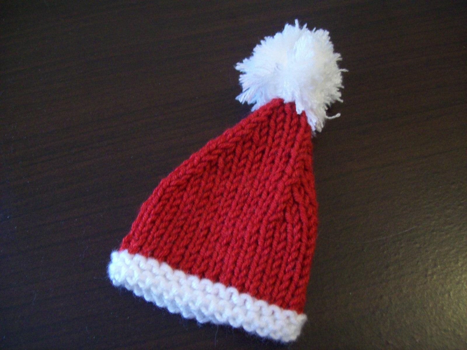 Tricoter un bonnet de noel