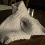 Tricot echarpe bebe avec fente