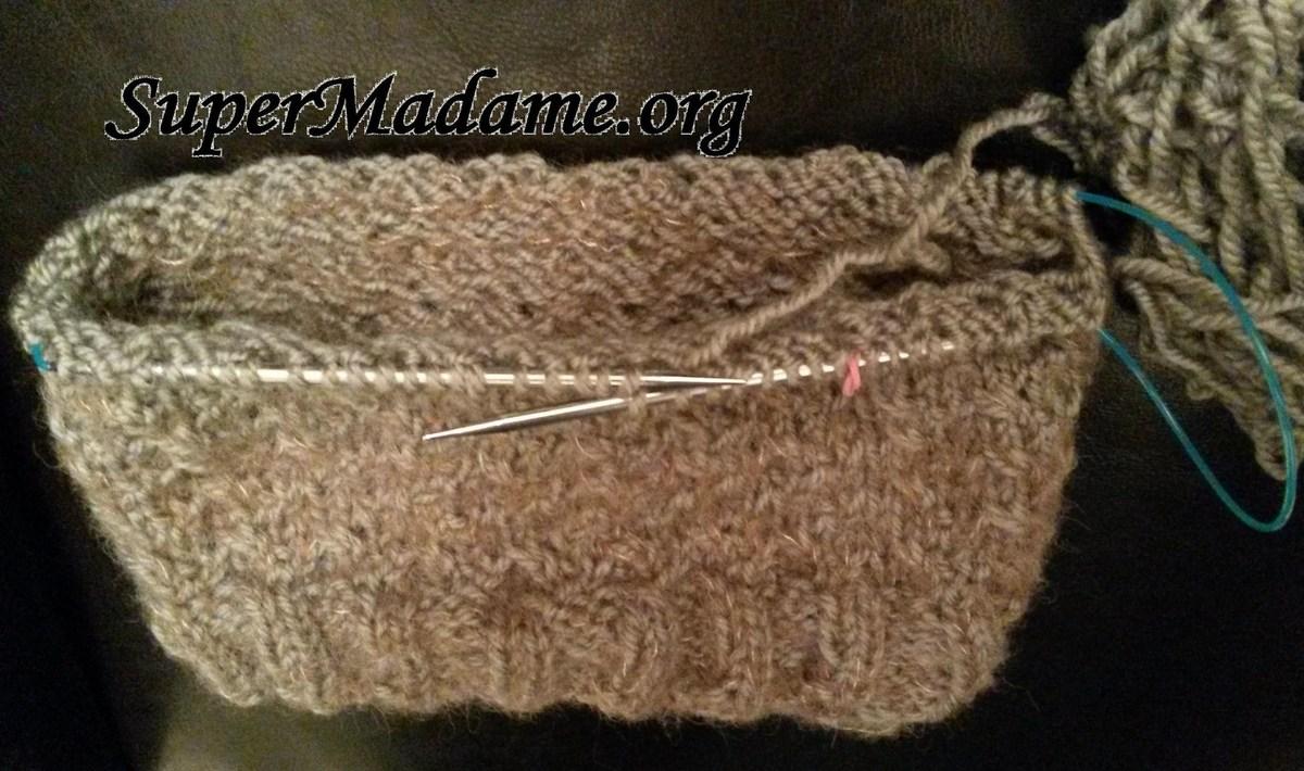 Tricoter en rond sur aiguille circulaire