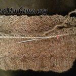 Tricoter jersey endroit avec aiguilles circulaires