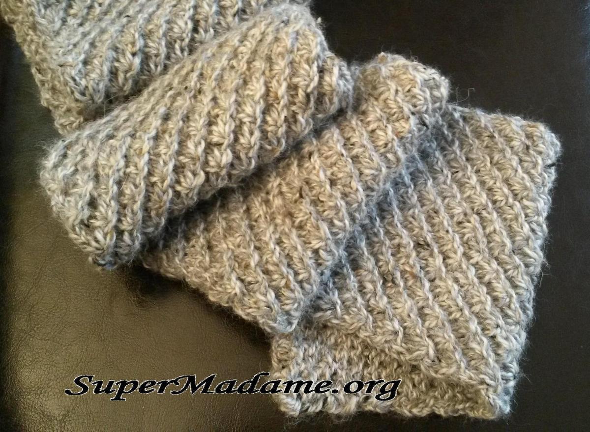 Echarpe tricot point de riz