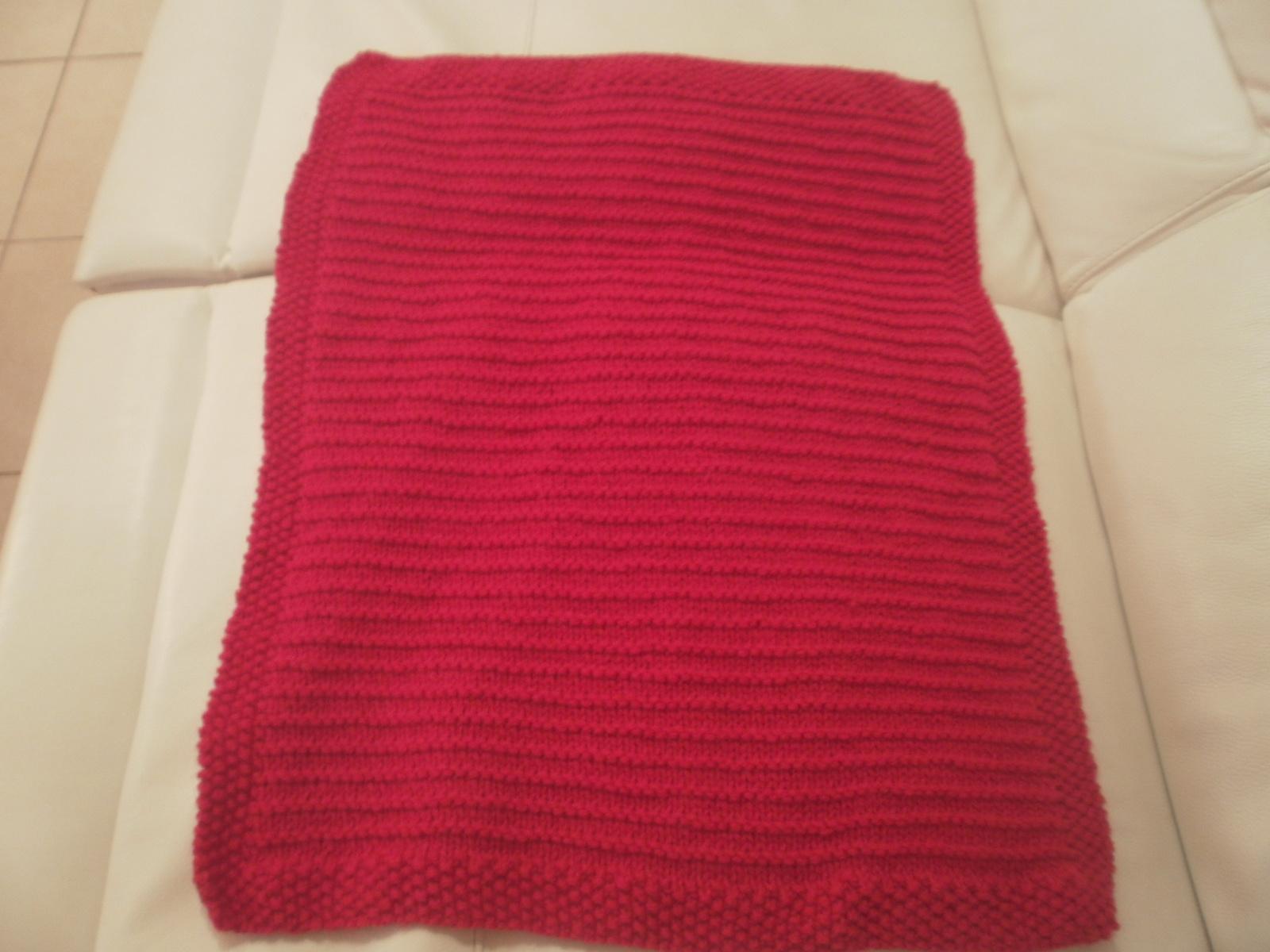 Tricoter couverture bébé point de riz