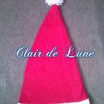 Tricoter un bonnet pere noel