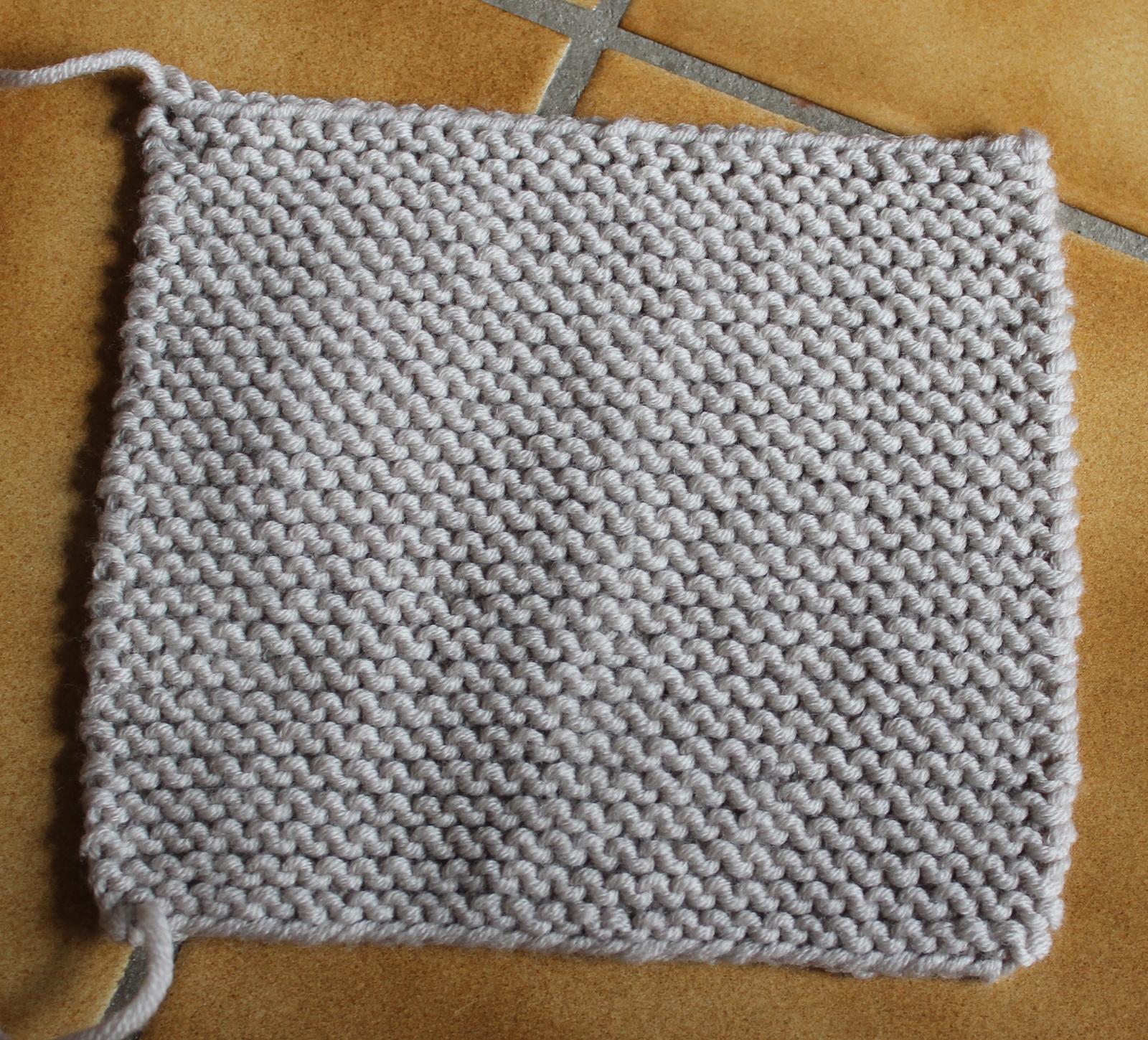 Tricoter un plaid en point mousse