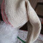 Tricot bonnet bébé lutin