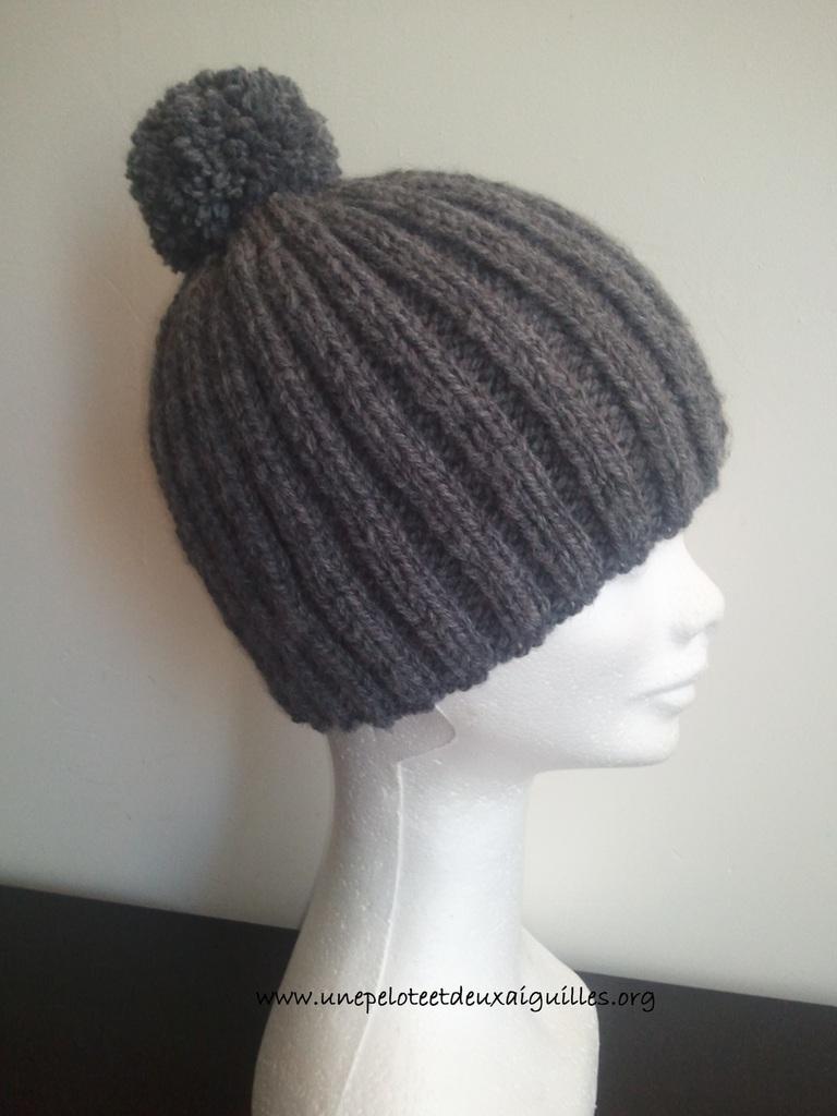 Tricoter un bonnet homme aiguille 3