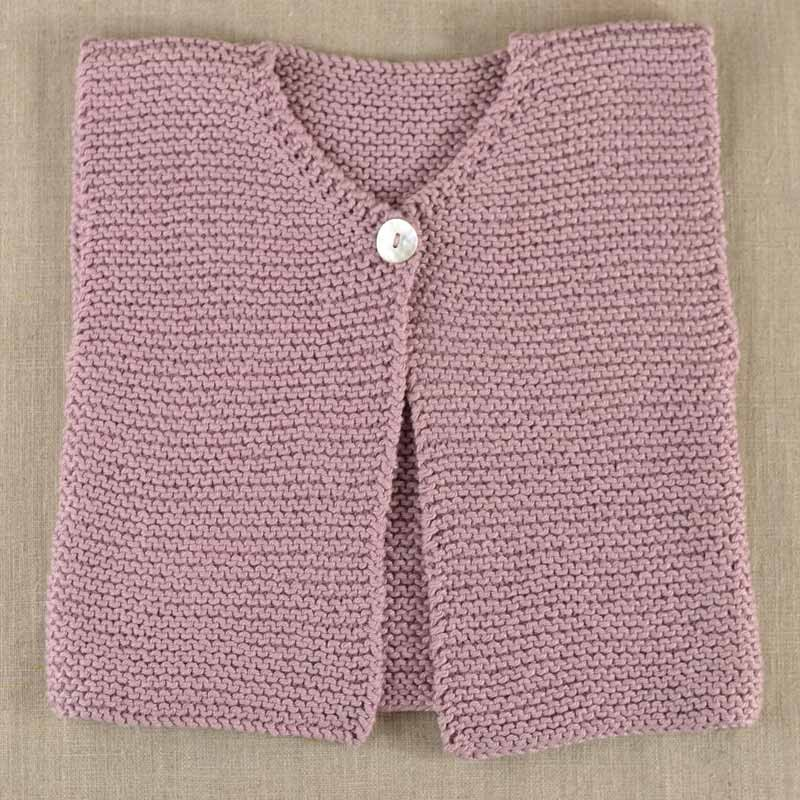Tricoter gilet sans manche bébé facile