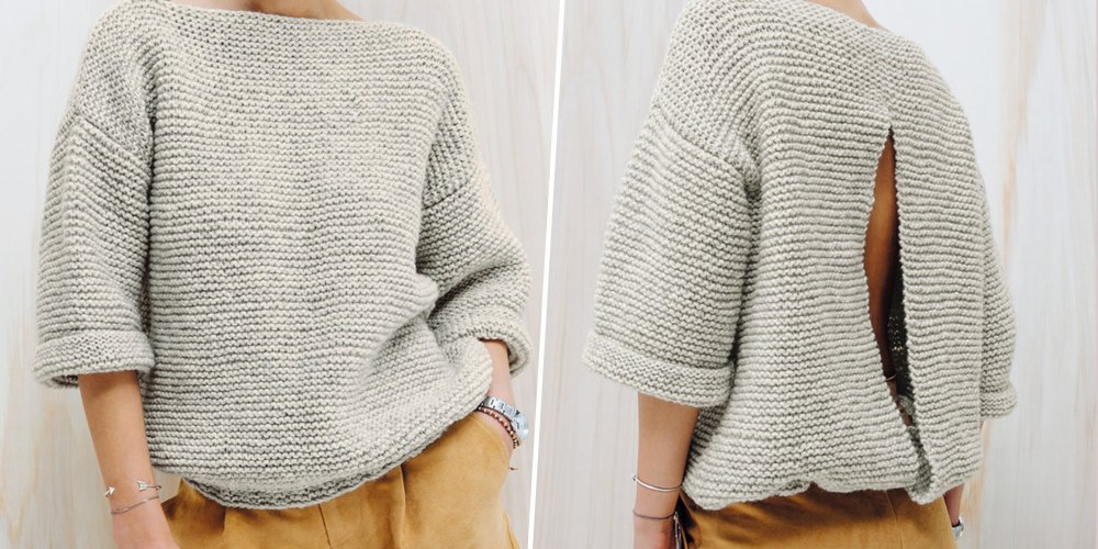 Pull tricot facile femme
