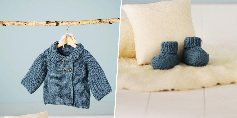 Tricoter gilet bébé sans coutures