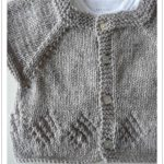 Tricot bébé top down