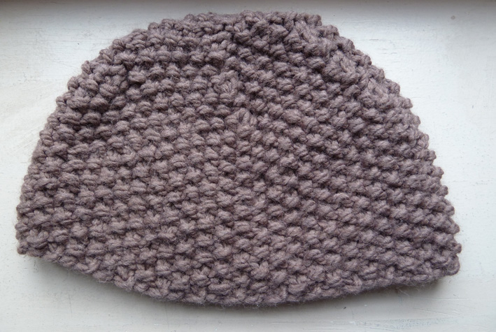 Bonnet bébé tricot point de riz