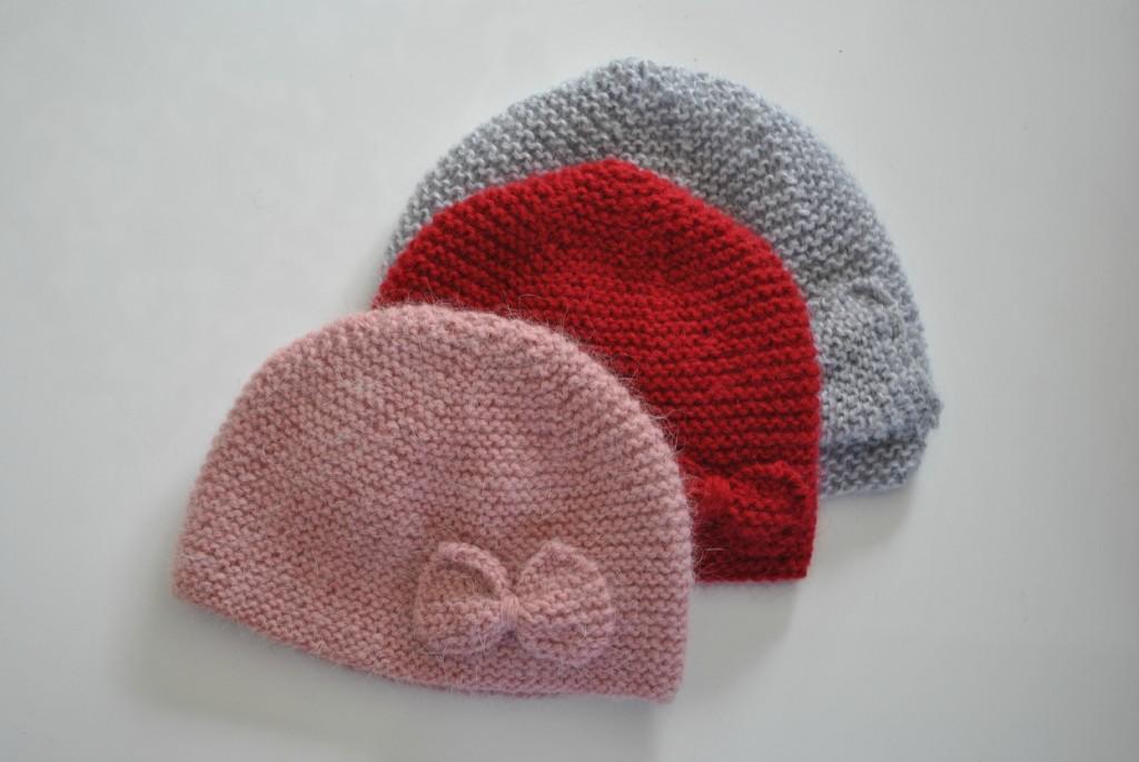 Tricot bonnet bebe naissant
