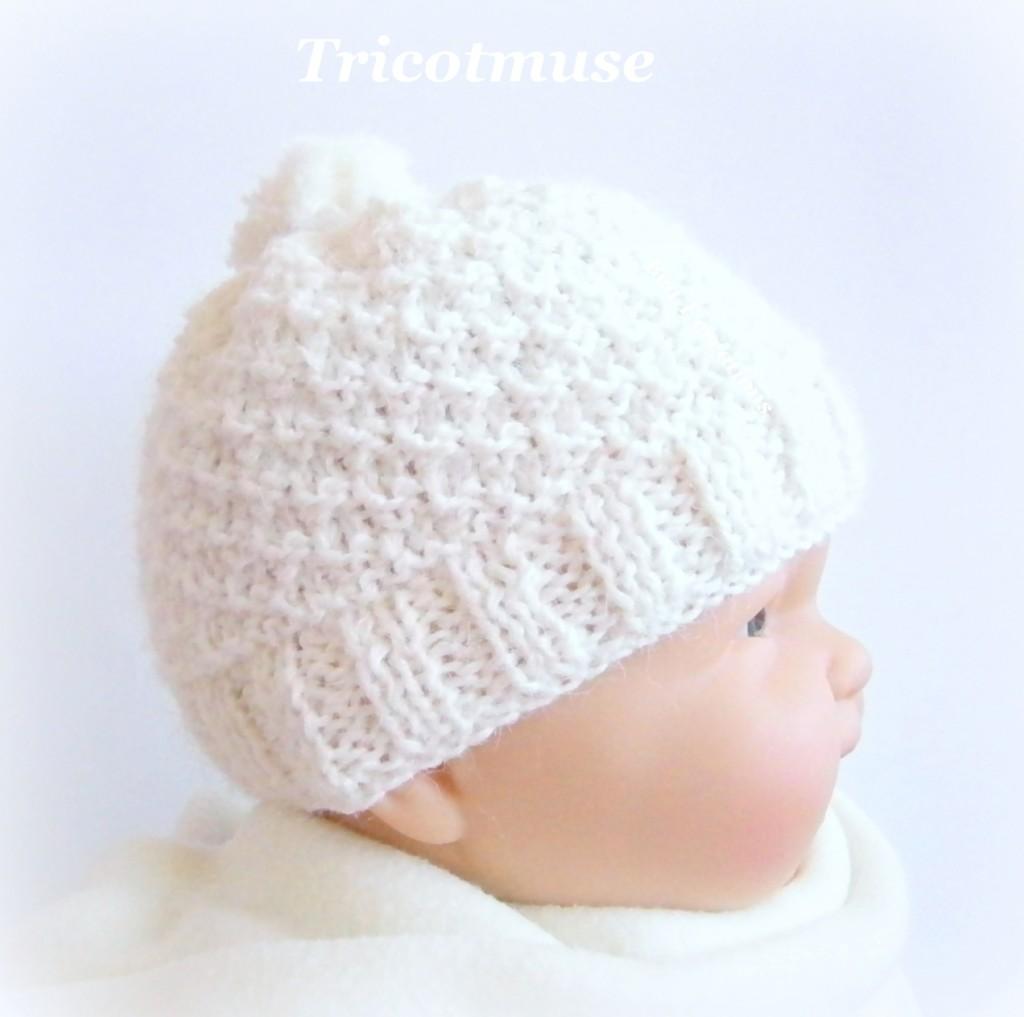 Tricoter un bonnet de naissance facile