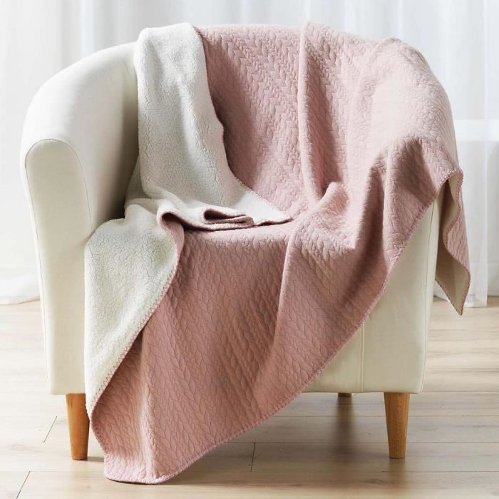 Tricoter un plaid en jersey