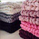 Tricoter un plaid geant