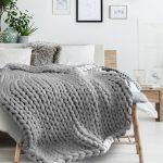 Tricoter un plaid en grosse laine
