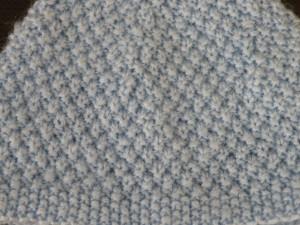 Point de riz double en tricot