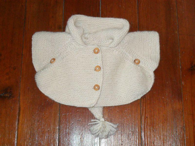 Poncho tricot bébé tuto