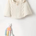 Tricot bébé cape