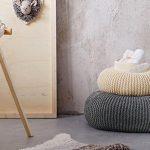 Tricoter pouf