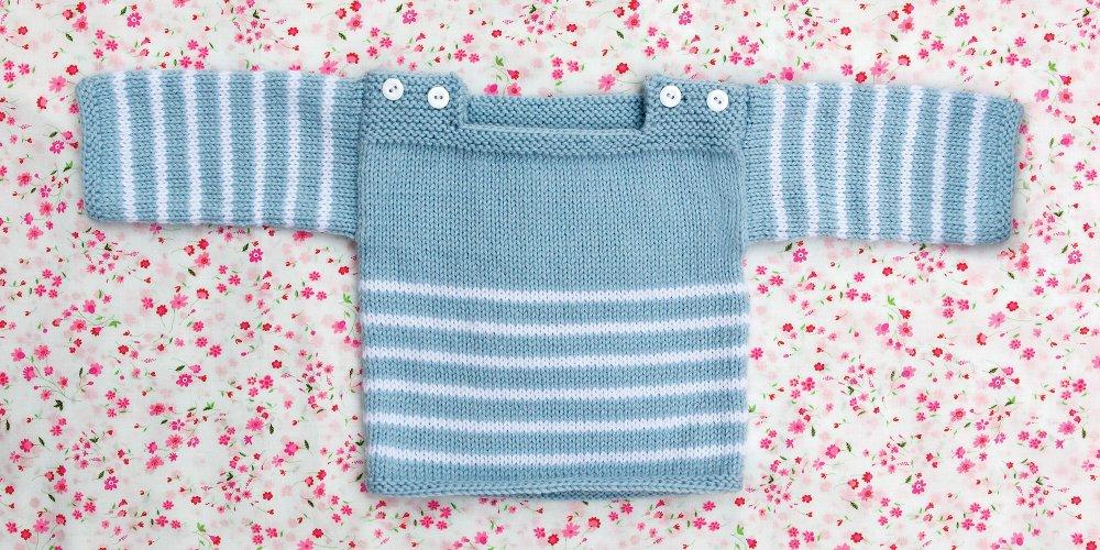 Modele tricot raye bebe