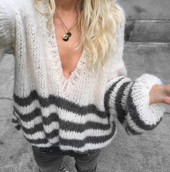 Tricot facile pull oversize
