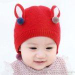 Tricot bonnet lapin
