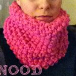 Modele tricot snood point de riz