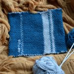 Broderie sur tricot point de riz