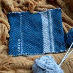 Broderie sur tricot point de riz