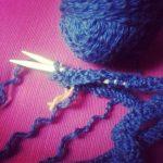 Tricoter avec des aiguilles circulaires