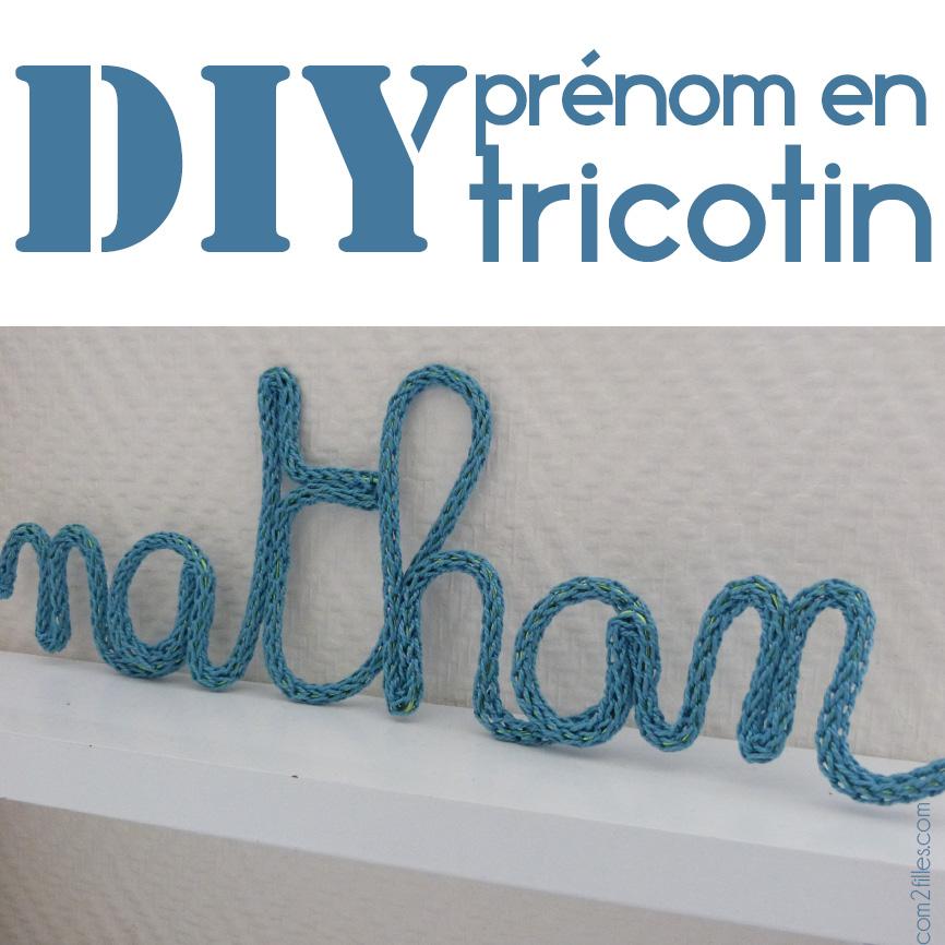 Tricotin mécanique prenom