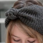 Tuto headband tricot point de riz