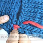 Assemblage tricot point de riz