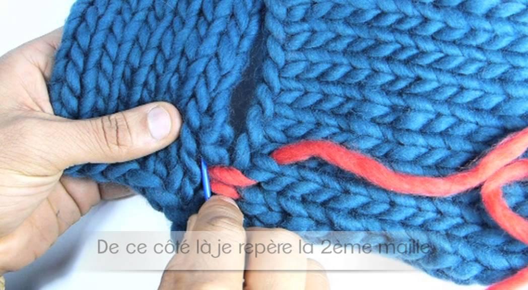 Assemblage tricot point de riz