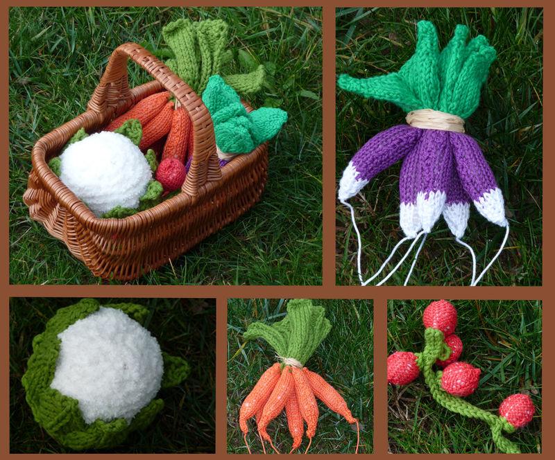 Tricoter fruits et légumes