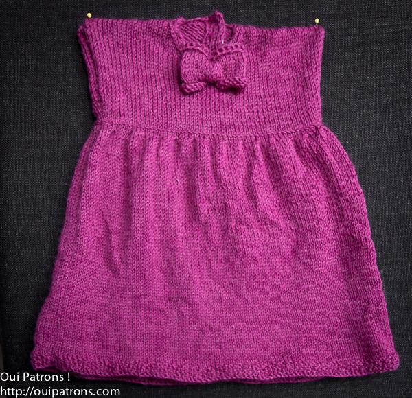 Tricot jupe bébé