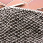 Tricot point de riz simple